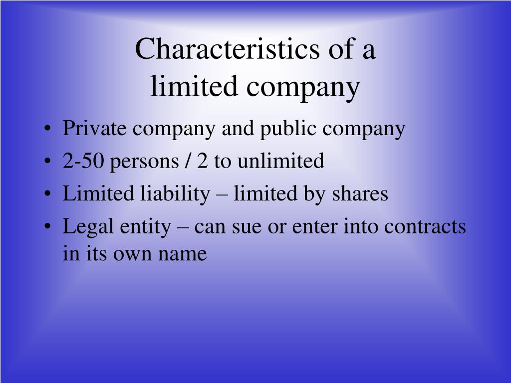 characteristics of a firm